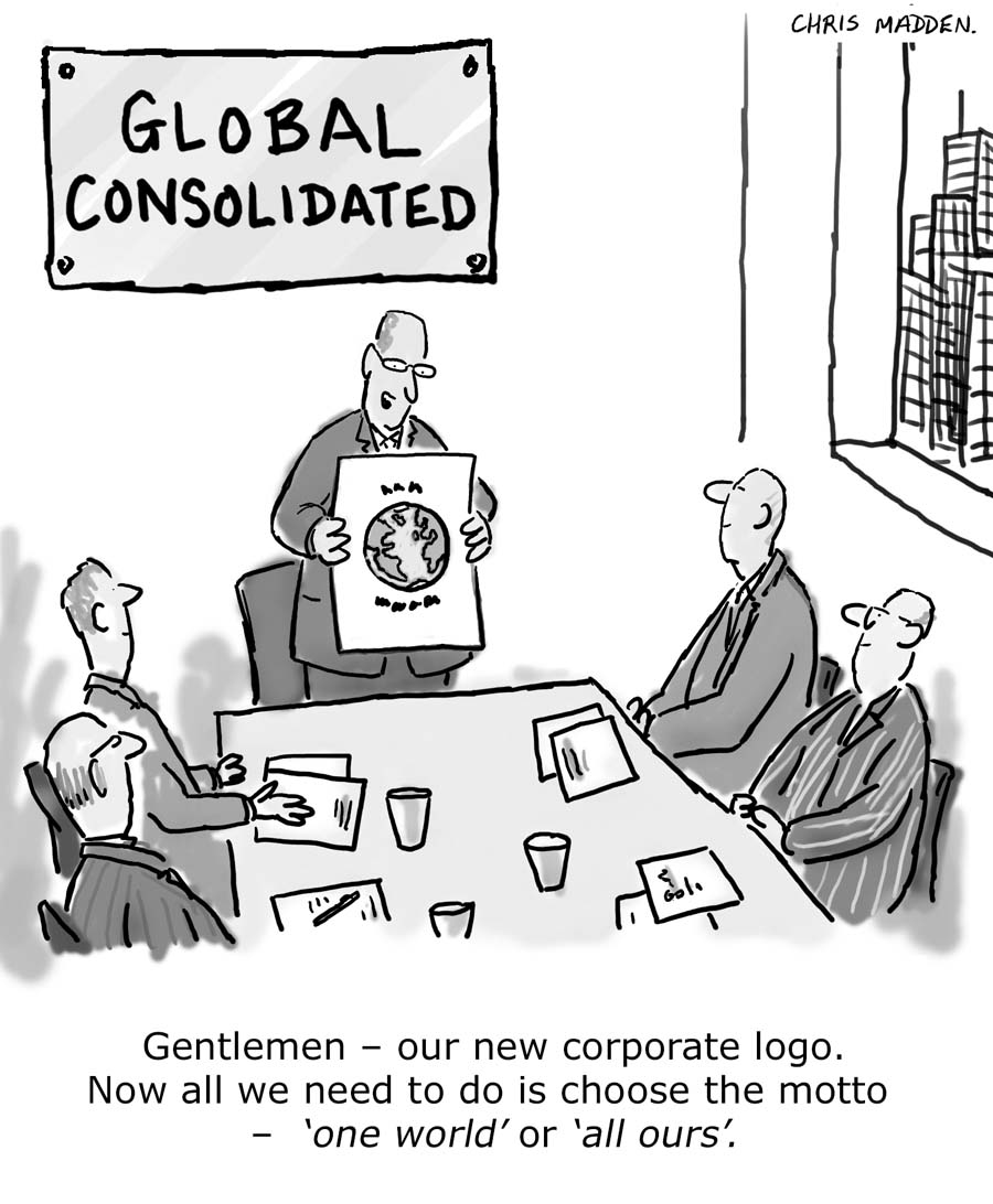 Corporate globalisation cartoon