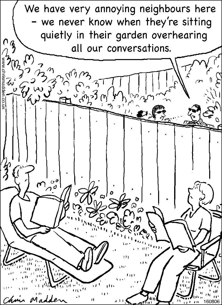 Garden neighbours cartoon