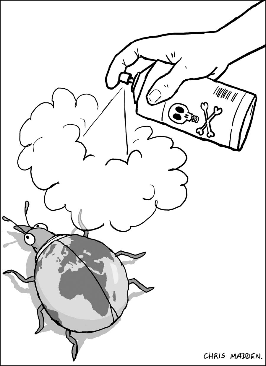 Environment cartoon - pesticide